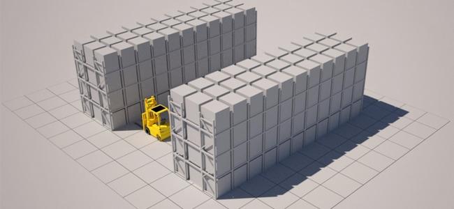 Push-Back-Racking
